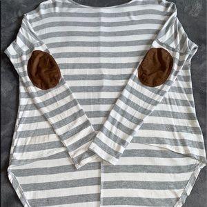 Target/Grey/Stripe/Brown Patch/High-Low/Longsleeve